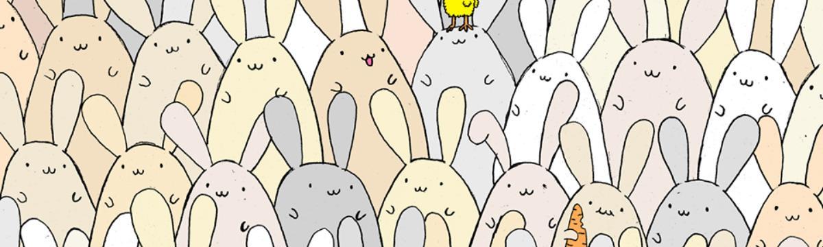 Dudolf húsvéti játékkal tér vissza: ti megtaláljátok a tojást a nyuszik között?