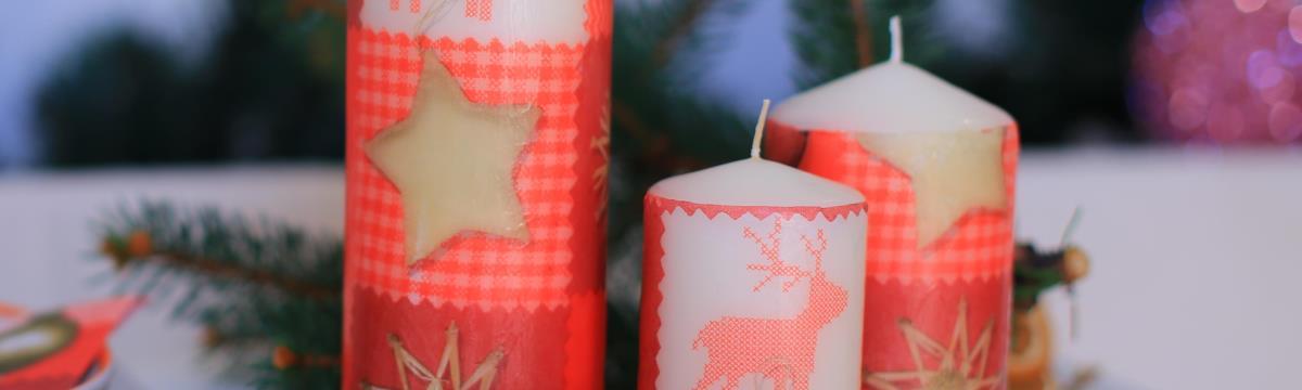 Fantasztikusan lobogó gyertya szalvétadíszítéssel – Még idén! kampány