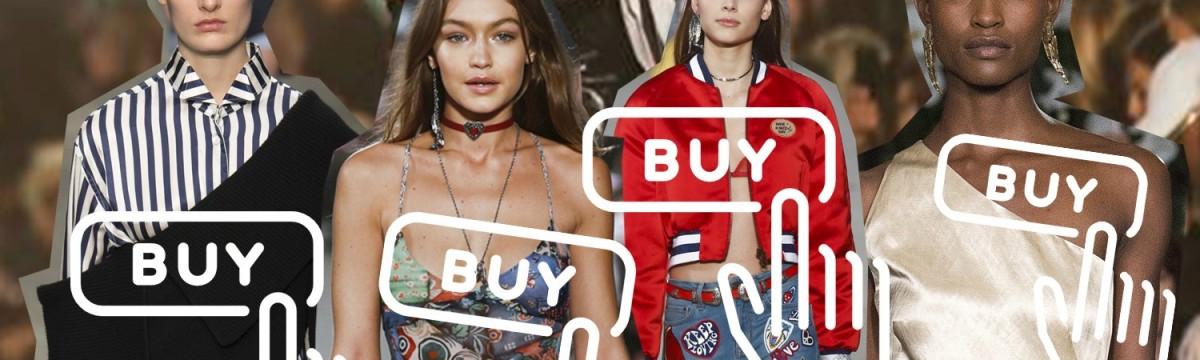 A vásárlók a divatbemutatót nézve - kis túlzással - a modellekről szedik le a ruhát