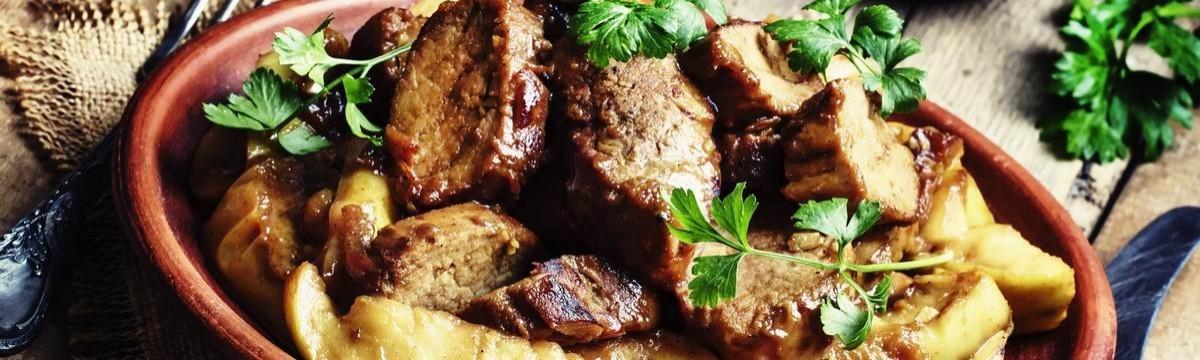 Almás hús sertésszűz cider