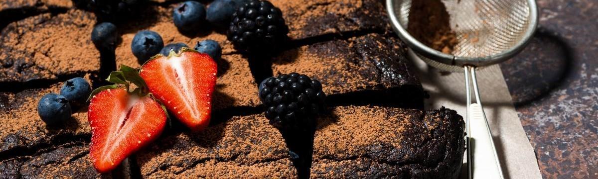 Brownie egészségesen főtt babbal
