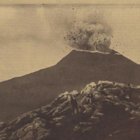 Félelmetes: korabeli képek a Vezúv 110 évvel ezelőtti kitöréséről