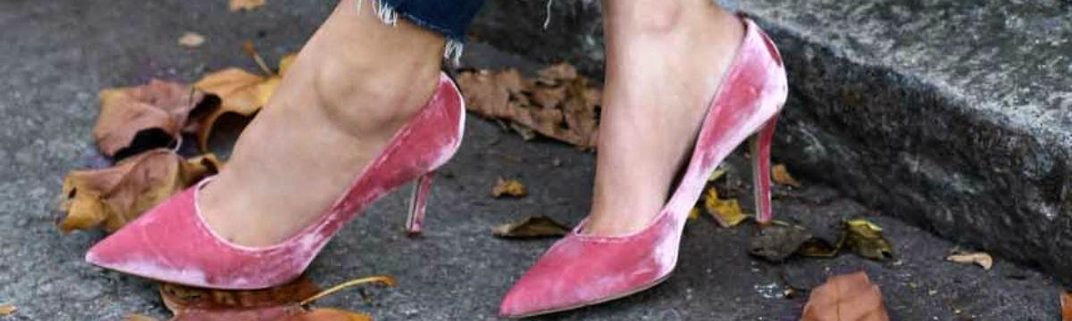 cipő bársony