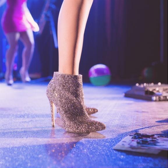 cipő flitter