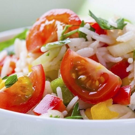 Cookta maradék rizs étel