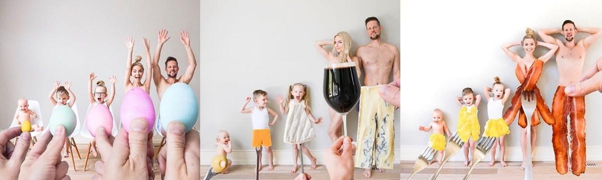 család kreatív fotózás