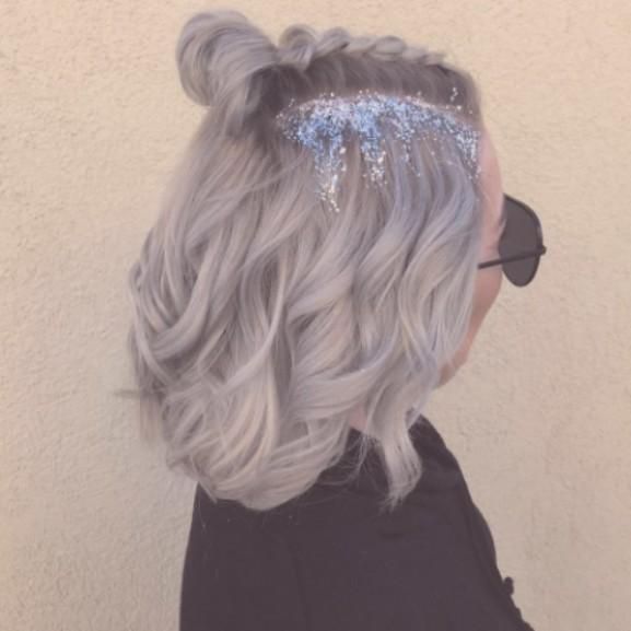 csillámos jégkirálynő haj