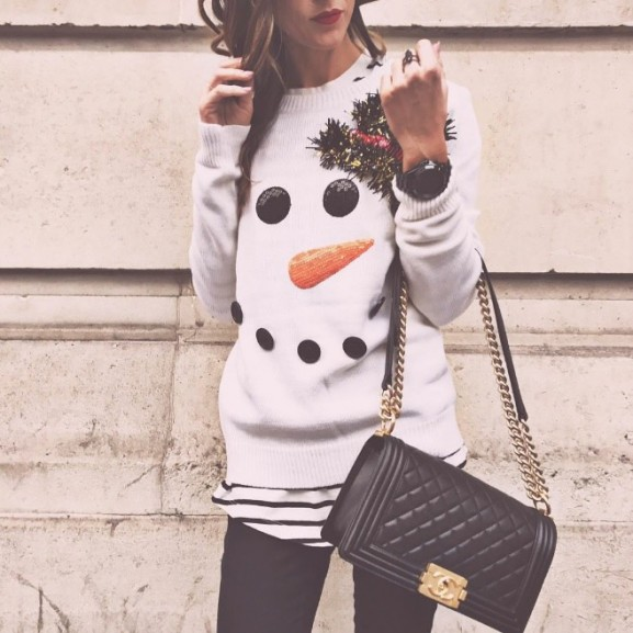 csúnya ronda karácsonyi pulóver
