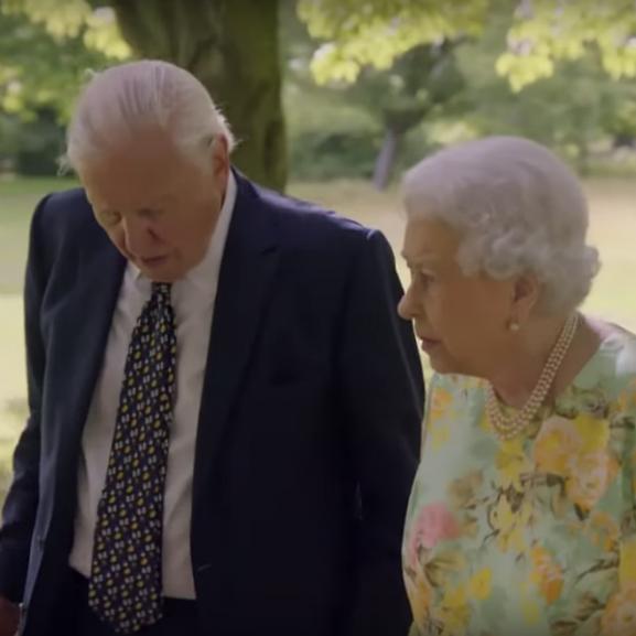 David Attenborough Erzsébet királynő