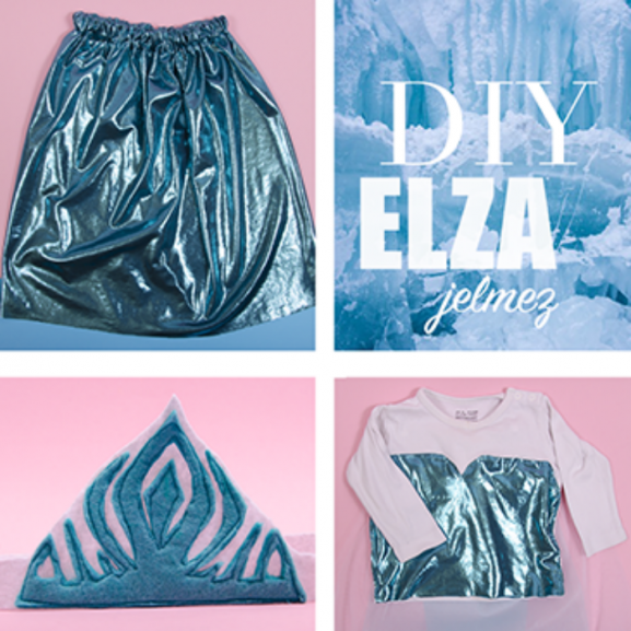 DIY Elsa jelmez farsang