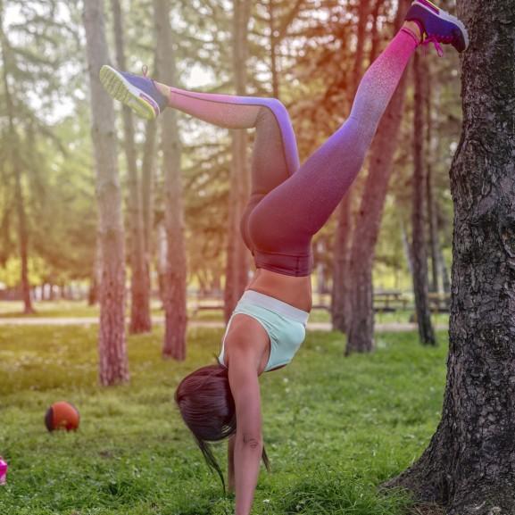 edzés természet lány sport