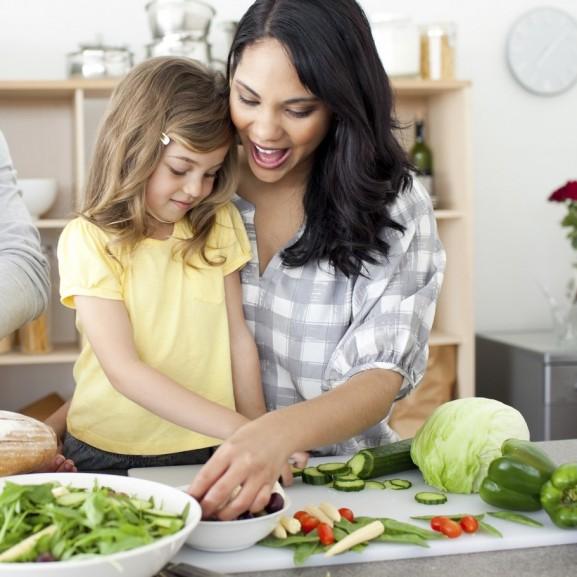 egészséges életmód család