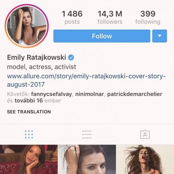 Emily Ratajkowski instagram story