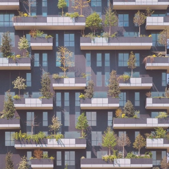 erdő zöld lakás milánó
