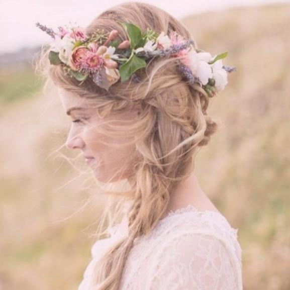 esküvő hajfonás