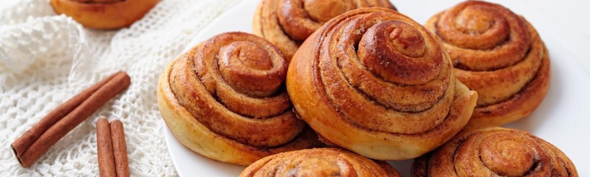 Fahéjas csiga kanelbullar sütemény