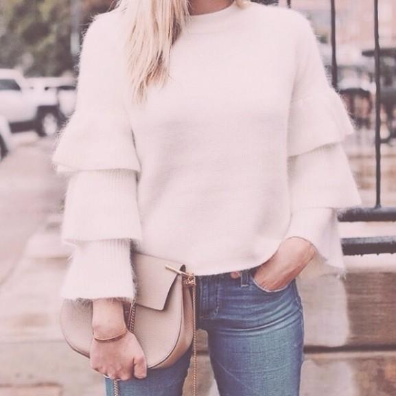 felső divat winter white