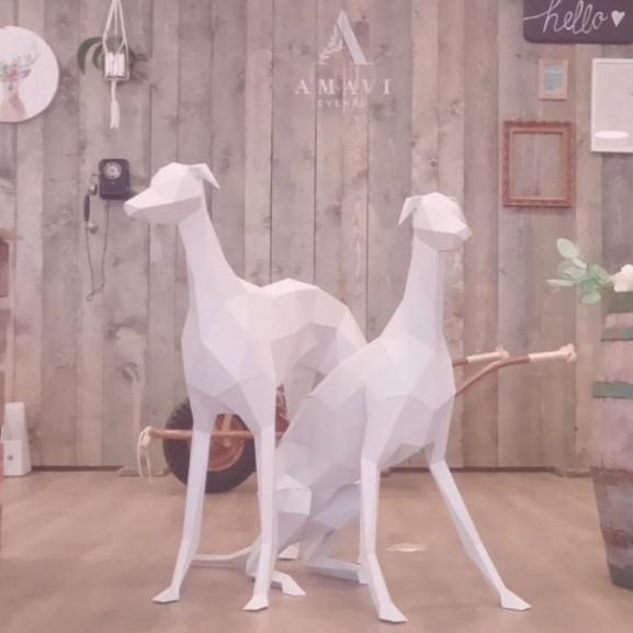 geometrikus állat figura