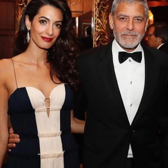 Geore és Amal Clooney