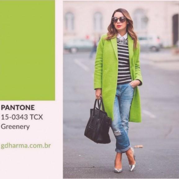 greenery zöld divat