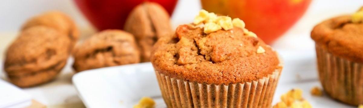 Gyors bögrés almás-diós muffin