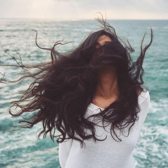 haj lány nő