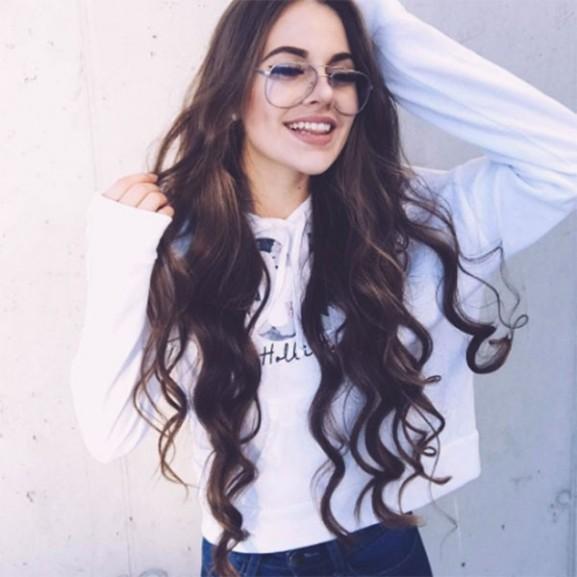haj lány szemüveg
