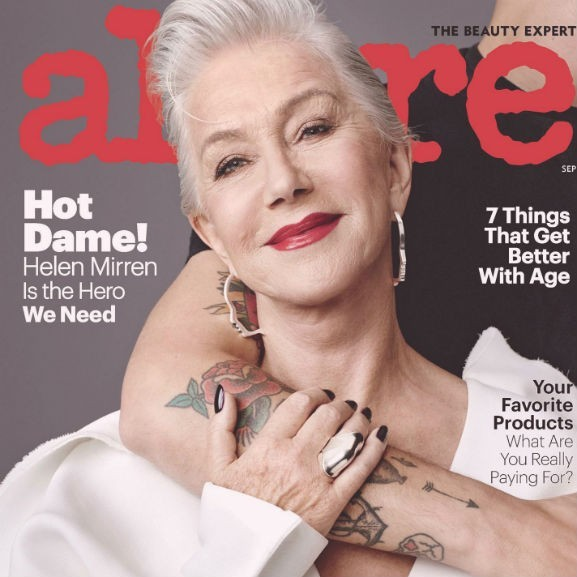 Helen Mirren Allure 2017 szeptember