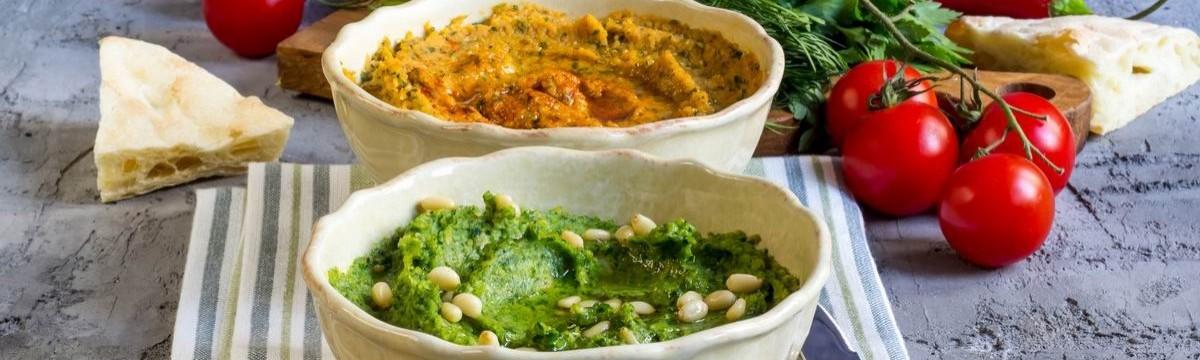 Hummusz 4 féle módon csicserikrém egészséges egyszerű vegán