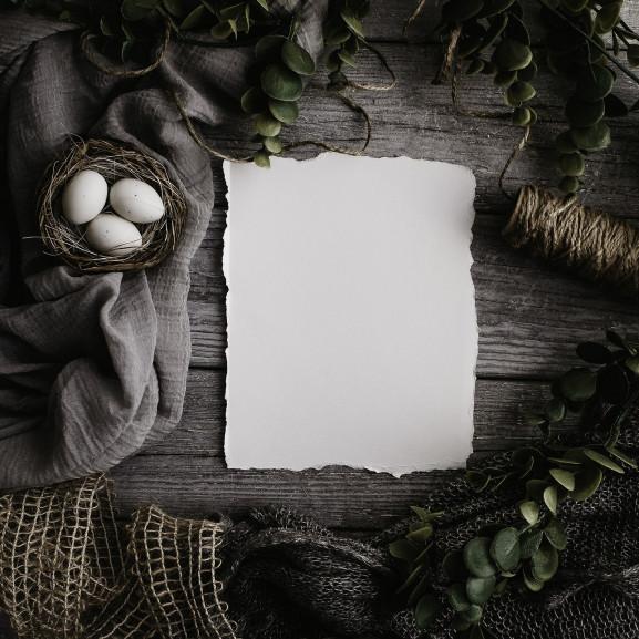 húsvéti papír dekor