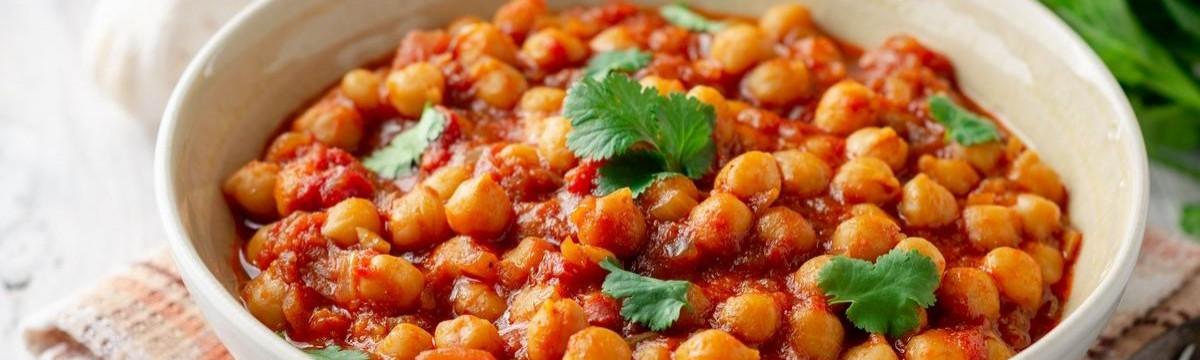Indiai fűszeres csicseriborsó - chana masala