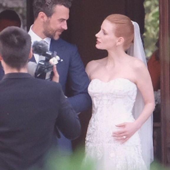jessica chastain esküvő 2017