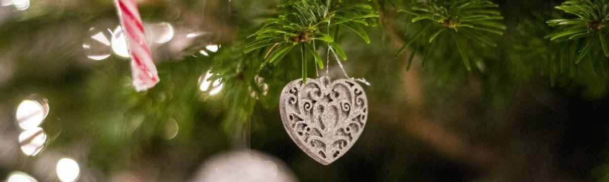 karácsony fa dísz szív