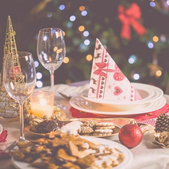 karácsony teríték dekoráció