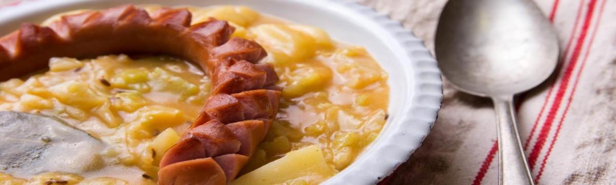 Paprikás krumpli blog : Kelkáposzta főzelék sült virslivel