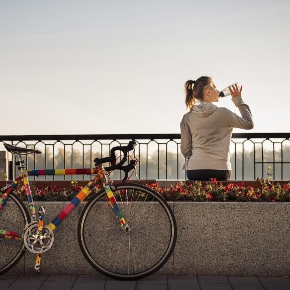kerékpár lány túra