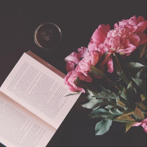 könyv olvasás bazsarózsa