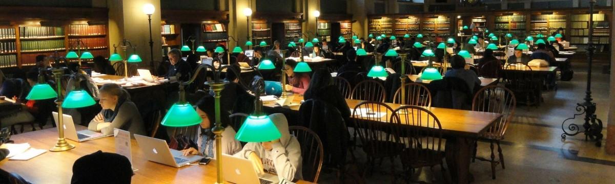 könyvtár tanulás