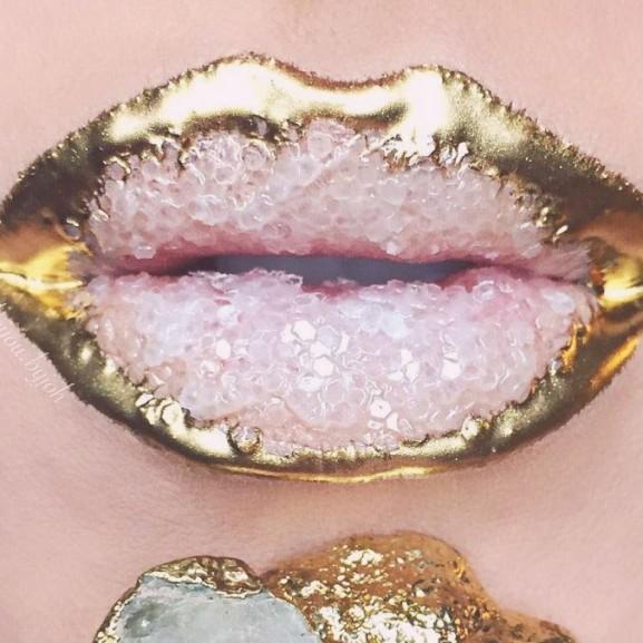 kristály ajak művészet makeup