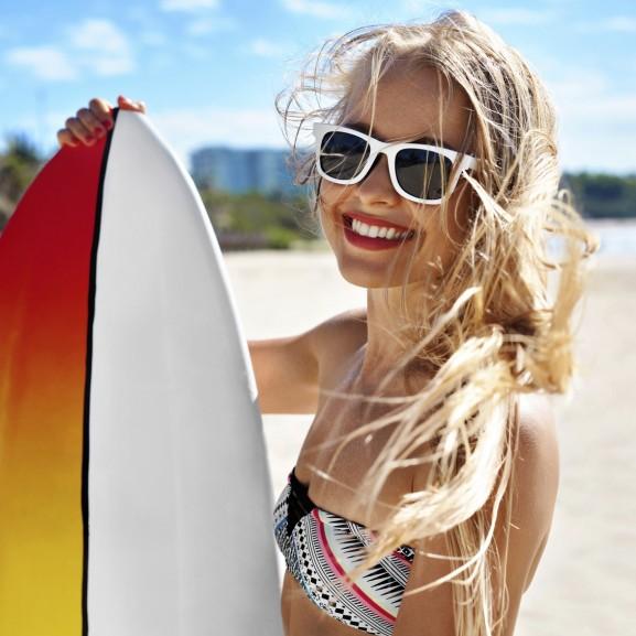 lány szörf nyár élmény strand
