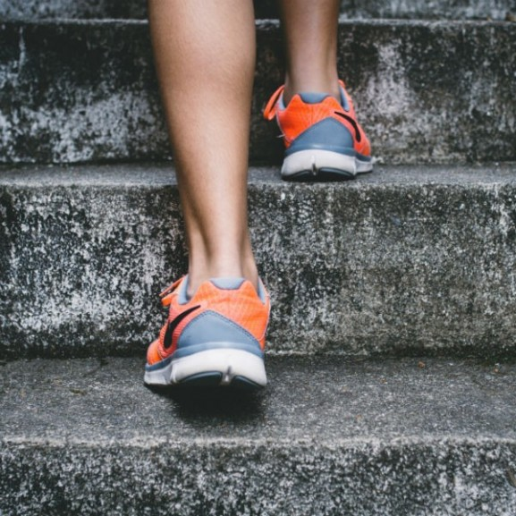 lépcső futás