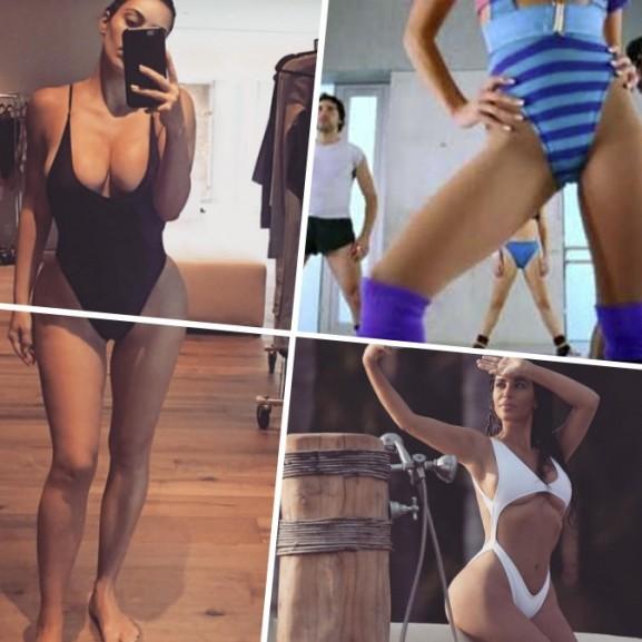 magas combkivágású fürdőruha divat kim kardashian
