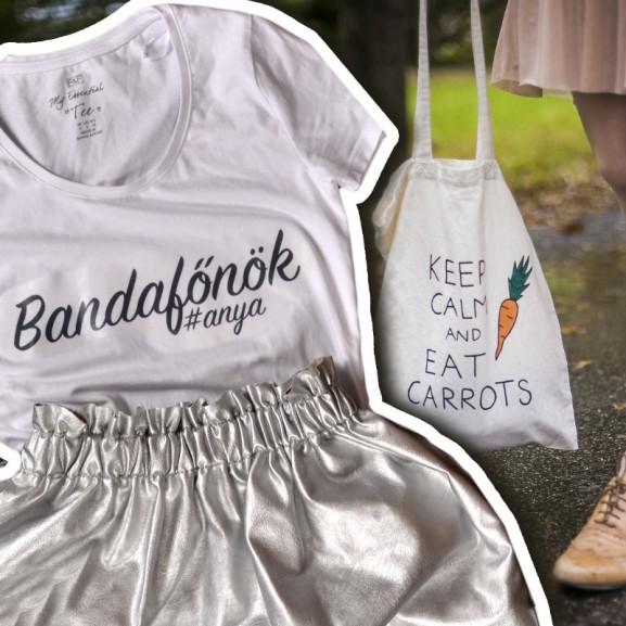 Mengyán Eszter Egyedi póló diy vízbázisú textilfestékkel és vasalható fóliával