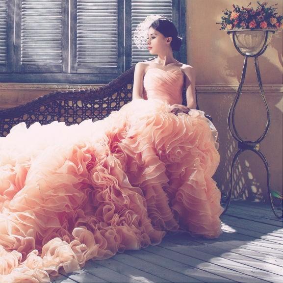 menyasszony rózsaszín