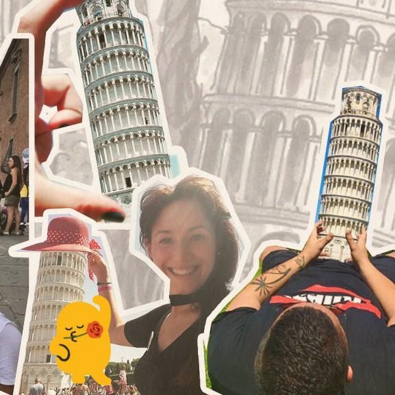 Mert csak úgy szimplán odaállni már gáz... Kedvenc turistaképeink a Pisai ferde toronyról! VOUS-lányok