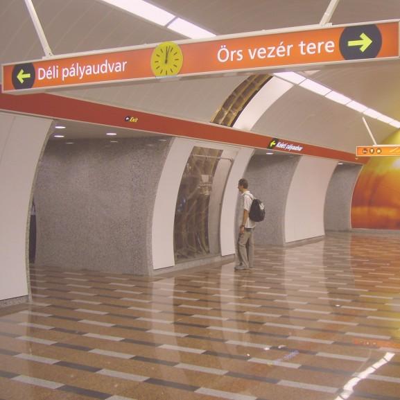 metró aluljáró örs vezér tere déli pályaudvar