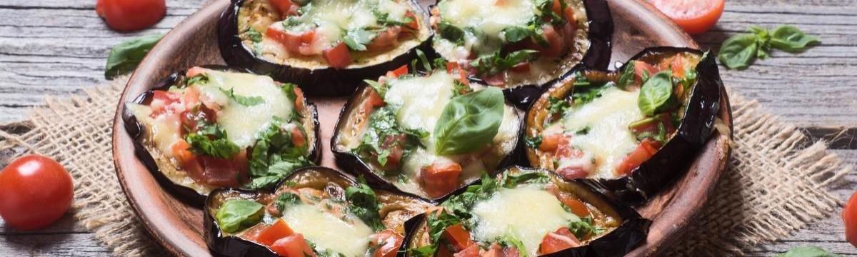 Mini margherita pizza padlizsán egészségesen