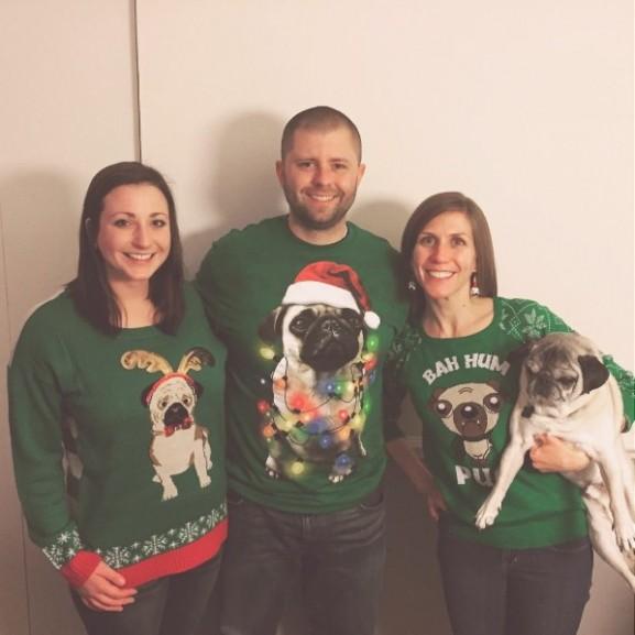 mopsz karácsonyi pulóver