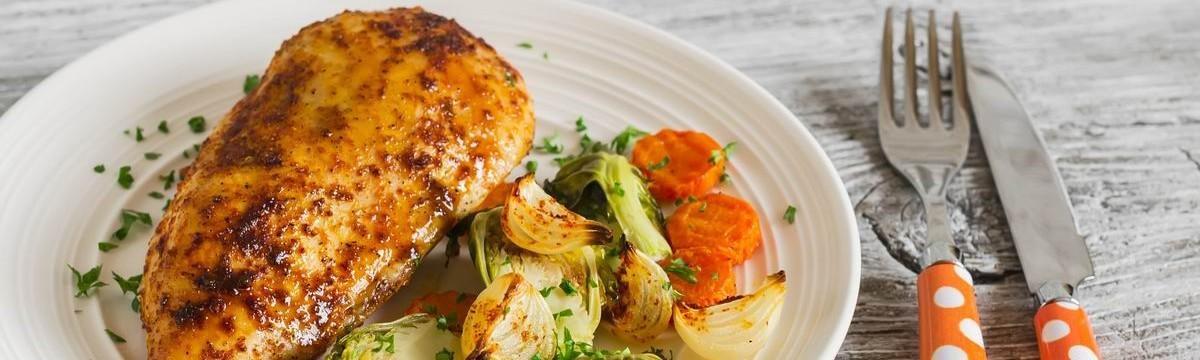 Mustáros csirkemell zöldség