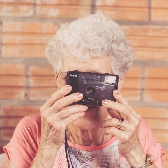nagymama fényképezőgép